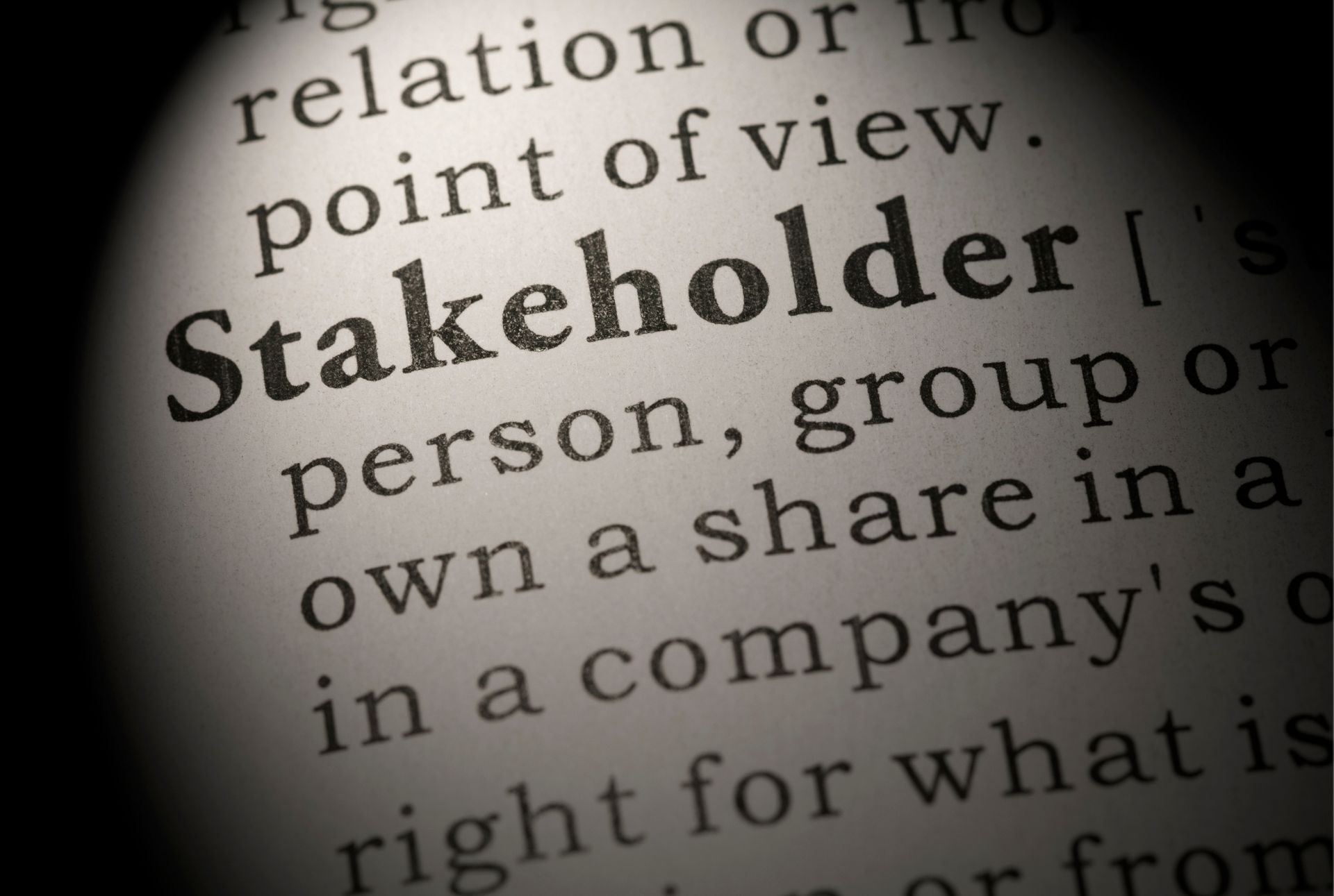 How to Address to Stakeholders